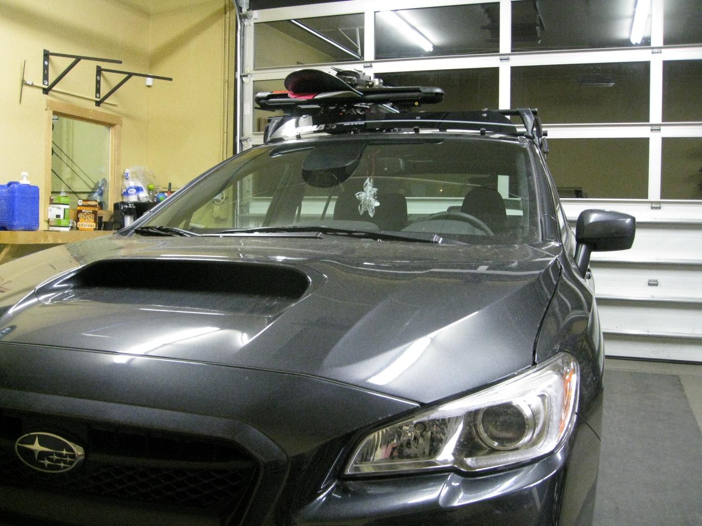 2018 Subaru Wrx Sedan Base Rack Fairing And Ski Snowboard Yakima