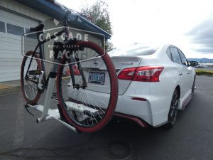 2018 Nissan Sentra Nismo - Receiver Hitch and Bike Rack - Curt / Kuat
